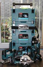Makita Combo-Kit 18V DDF459RF4J + DGA504Y1J + DJV182Y1J + DSS501Y1J + Trolley