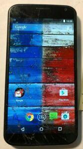 Motorola Moto X XT1058 Light Blue 16GB (AT&T) Fast Shipping Good Glass Cracks