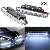 2x LED Tagfahrlicht Tagfahrleuchten  Universal Auto Scheinwerfer DC12V DE