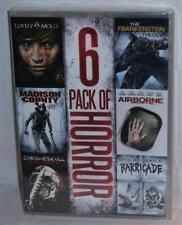 NEW 6 PACK OF HORROR LOVELY MOLLY AIRBORNE BARRICADE CHROMESKULL 2 + 6 MOVIE DVD