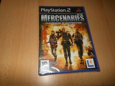 MERCENAIRES Playground of Destruction - SONY PS2 - GB PAL NOUVEAU scellé