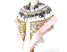 Auth HERMES La Promenade De Longchamps 100% Silk Scarf Size 90✖90 France Used