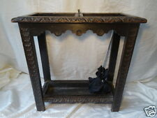 Antique Victorian Jacobean Carved Oak Umbrella Hall Stand