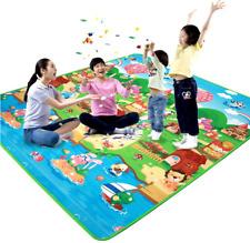 1XTappetino da gioco per bambini 180x120x0.5cm Tappeto strisciante Tappeto