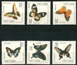 NORTH VIETNAM OLD STAMPS 1965 - Butterflies - Mint Hinged