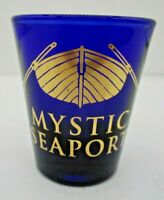 Mystic Seaport Connecticut CT Whitehall Livery Boat Libbey Cobalt Shot Glass