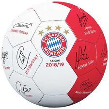 FC Bayern München Mini Ball Unterschriften Signature 2018 / 2019 Fussball Gr.1