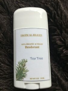 All Natural Organic VEGAN Deodorant Tea Tree Scented - WORKS! (with Shea Butter)