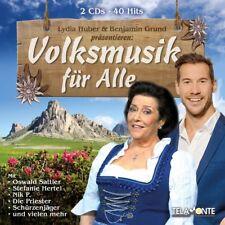 Volksmusik für Alle - Sampler - Mit Lydia Huber & Benjamin Grund  2 CD NEU OVP