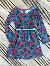 YUMI Girl London designer grey sequin floral SMART PARTY DRESS 11-12y suit 9-10y