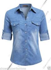 Maglie e camicie da donna Blu Aderente Taglia 44