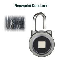 BT-Fingerprint Keyless Padlock Smart Waterproof Door Lock Anti-theft Micro USB