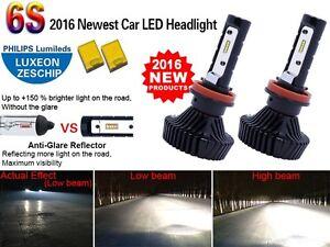 H11 LED Headlight Conversion Kit 80W High Power 6000K HID Cool White Bulbs