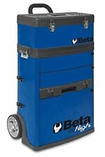 Beta Tools C41H BLUE Mobile Tool Trolley, 3 Slide Out Drawers and Removable Top