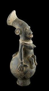 Vaso Antropomorfa Magbetu Brocca 34cm Terra Cotta Rd Congo Arte Africano 16898