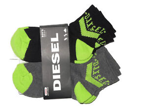 Diesel boys quarter low cut Socks lot of 6 pair youth size 9-11