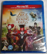 ALICE THROUGH THE LOOKING GLASS Brand New 3D (and 2D) BLU-RAY Movie 2016 Disney