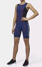 NEW Sundried Womens Padded Triathlon Tri Suit Duathlon Swim Bike Run S NWT Blue