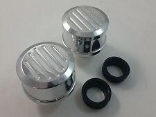 Polished Billet Aluminum Ball Milled Valve Cover Breathers W/ Grommet SBC BBC V8