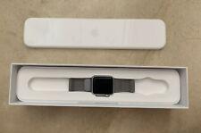 Apple Watch Series 1 38mm Caja y Correa de Acero Inoxidable en Plata.