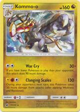 4x Pokemon SM - Crimson Invasion Kommo-o 77/111 Rare Card