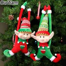 2x Plush Christmas Tree Elves Ornaments New Year Gifts Xmas Party Favors Decor