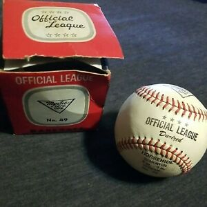 Vtg 1950s Mystic Sptg Gds Official League Horsehide Baseball Unused In Orig Box