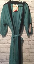 Target BATH ROBE Unisex Teal Black King Robes  Vintage Old Stock