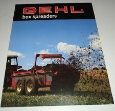 Gehl 113 175 250 325 425 Box Manure Spreader Sales Brochure Original 1087