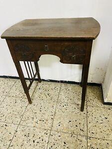 Art Deco Beistelltisch Kommode Nähtisch Tisch um 1920 Eiche Gründerzeit Antik
