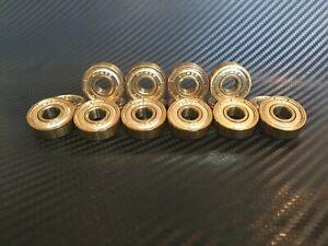 GOLD 608ZZ BEARINGS 608 ZZ 8 X 22 X 7MM
