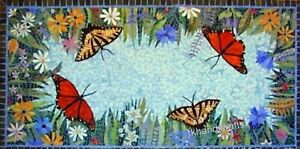 30 x 60 Inches Dining Table Top Beautiful Meeting Table with Butterfly Pattern