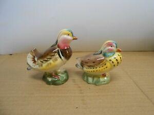 vintage salt & pepper shakers birds ducks mandarin animals