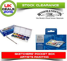 Winsor & Newton Cotman Sketchers POCKET BOX 12 Set Acquerelli Half Pentole veloce