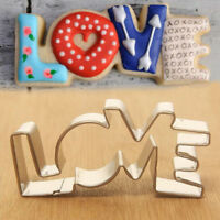 LOVE Letter Metal Biscuit Cookie Cutter Cake Mould Sugar Paste Decorating Pastry