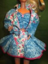 Vintage Barbie Clothes ~��~ Western Style Outfit with Shoes Purple Tag #032
