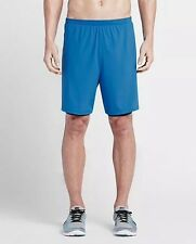 "Men's Nike 7"" Phenom Two In One 2-in-1 Running Shorts Blue Size Small 683279 435"