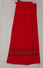 "Vintage Geoffrey Beene "" The Beene Bag"" Maxi Wrap Red Wool Skirt Size:S-M"