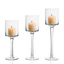 New 3PCS Elegant Tea Light Glass Candle Holders Wedding Table Centrepiece