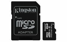 8GB Kingston Industrial Temperature microSDHC CL10 UHS-1U1 Memory Card w/Adapter