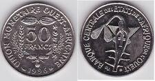 AFRIQUE DE L OUEST   50 FRANCS 1996  PR. NEUF  MS/AU