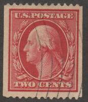 1910, US 2c, Used, Geroge Washington, Sc 386, Cv 100$