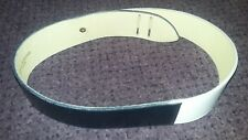 "Vintage Guy Laroche 2-Tone Blue & White Leather Belt 37-3/8"" L 1-7/8"" W ~ France"