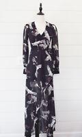 Bird People In Flight Printed Maxi Boho Dress S Bohemian Wrap Top Free Shipping