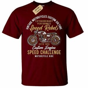 Speed Rebel T-Shirt Mens Biker top motorcycle ride custom