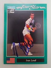 Ivan Lendl 1992 NetPro Tennis Card Autographed MINT Very Rare Collectable