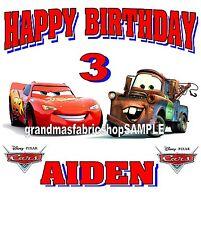 New Cars Lightning McQueen Mater Custom Birthday T Shirt