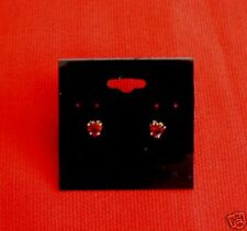 "24 Kt. Gold Plated C Z Birthstone Earrings "" July """