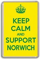 KEEP CALM AND SUPPORT NORWICH, NORWICH CITY FOOTBALL TEAM Fridge Magnet