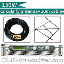 100w 150W FM transmitter with Circularly polarized antenna and 20 meters cable